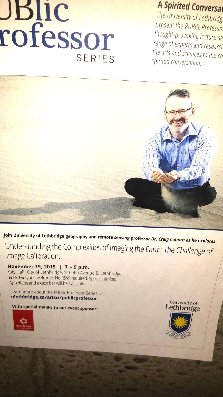 Public Professor Craig Coburn Lecture Series