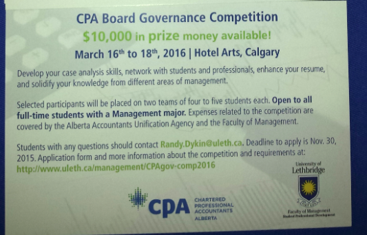 CPA Competition Lethbridge